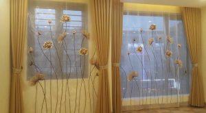 Trang trí ngôi nhà bằng rèm vải voan thêu nghệ thuật – Rèm Hưng Thịnh